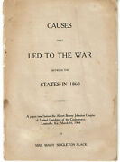 Causes That Led To War Between The States - United Daughters Of The Confederacy