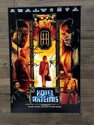 Hotel Artemis Signed 12x18 Photo Jodie Foster Boutella Brown Day Henry