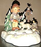 Hummel 2066 Collector Peaceful Offering W/friendship In Bloom Hummelscape W/box