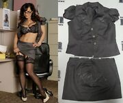 Lisa Ann 2x Signed Personally Worn Used Dress In Black Out Movie Bas Beckett Coa