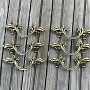 French Provincial Drawer Pulls 3 Lot Of 6 Belwith Keeler Brass New Handle Gold