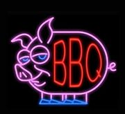 New Bbq Barbecue Grill Real Glass Decor Neon Light Sign 24x20