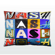 Personalized Pillow Featuring The Name Nash In Photos Of Actual Sign Letters