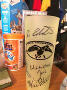 Uncle Si Robertson Autographed Green Tea Cup Duck Commander Duck Dynasty/ Jsa