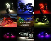 8pc 18 Color Changing 5050 Smd Rgb Led Cbr650f Motorcycle Led Neon Glow Kit