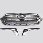 For Toyota Land Cruiser Lc200 Fj200 4000 16-19 3x Front Grid K Grilleandlight Brow