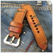 Handmade Leather Strap Band The Painter Series Free Buckle.