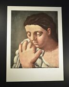 Pablo Picasso Andldquowomanandrsquos Head In Handandrdquo 1947. Hand Signed By Picasso With Coa.