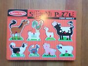 Melissa And Doug Sound Puzzle Farm Animals Wood Batteries Included