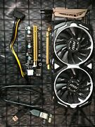 Msi Rx470 4gb Video Card And Pci-e 1x-16x Riser Usb3 And Power Cable - 600