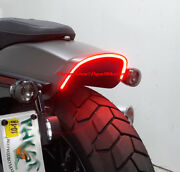 H-d Fat Bob 2018 And Up Under-the-fender Led Taillight And Turn Signals Smoke
