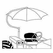 Vld5050 Universal Blue Umbrella For Ford Tractor 8n 2000 3000 4000 5000 6000
