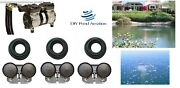 New 1/2hp Large Lake Pond Aeration Kit-3 Diffusers 300and039 Sink Tube Pa66w 1+ Acre