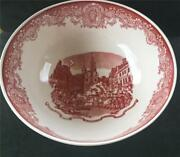 Wedgwood Queensware Boston Bowl Shreve Crump And Low- Red- 9 3/4