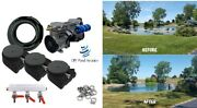 New 300' Rocking Piston Lake And Fish Pond Aerator 3 Diffusers 1+acre 4+cfm 3/4hp