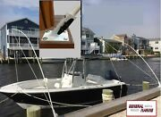 Mooring Whips Deck Mounted Fourteen Foot 14and039 X 1 Solid Fiberglass Poles.