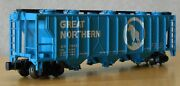N Scale 3 Bay Hopper Gn Great Northern Turquoise Bachmann Nwob Knuckle Couplers