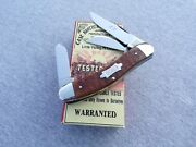 Case Classic 1993 Brown Jigged Bone Bowtie Shield 3 Blade Sowbelly Knife Knives