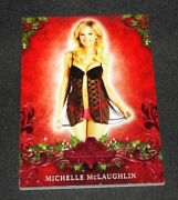 2013 Benchwarmer Michelle Mclaughlin Holiday 10 Red Foil 1/1 Playboy Playmate