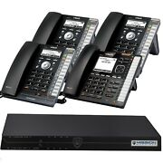 Vtech Phone System With 4 Ip Phones And Mission Machines Td-1000 Server