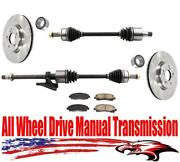 Front All Wheel Drive Manual Transmission Axles Bearings Brakes Acura Tl 3.7l
