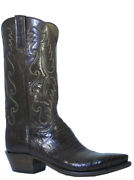 Lucchese Classic Menand039s Cowboy Boot E2144.54 Sienna Caiman Antique Brown