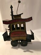 Toonerville Trolley Antique 1922 Tin Wind Up Toy