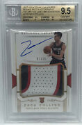 2017-18 National Treasures Zach Collins Rookie Rpa Patch Auto Fotl 07/15 Bgs 9.5