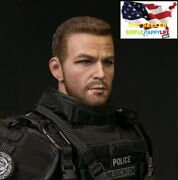 1/6 Male Head Sculpt Police For Hot Toys Phicen 12 Figure Worldbox Bd001 ❶usa❶