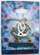 New 2015 Disney Parks Genearation D Countdown Frozen Olaf Completer Pin Le 1000