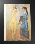 Pablo Picasso Lithograph Two Women One In Blue. Hand Signed By Picasso Coa.