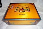 Elie Bleu Alba Yellow Gold Sycamore Humidor 75 Ct New In The Original Box