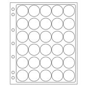 4 Lighthouse Encap Clear Pages For 32/33mm Coin Capsules 50c American Eagle Gold