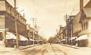Melrose Ma Main Street Storefronts In 1911 Rppc Postcard