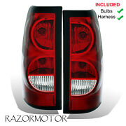 2003-06 Replacement Rear Tail Lights Set For Chevy Silverado W/bulb And Harness