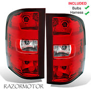 2007-2013 Oe Replacement Tail Light Set For Chevy Silverado Pair Bulbs + Harness