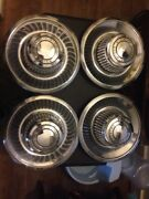 Vintage 1970and039s Oem Chevy Rally Wheel Center Caps. Set Of 4.