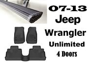 Amp Running Boards And Husky Front Liners W/ Free 2nd Row Liner For Wrangler 4dr