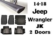 Amp Running Boards And Front+ 2nd Row Liner W/free Cargo Liner For Wrangler Jk 2dr