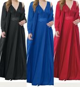 New Amoureuse Robe And Gown Sleepwear Pajamas Nightgown Set Plus Size L Or 1x