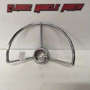 60 61 62 63 Ford Fairlane 500 Steering Wheel Horn Ring C0df-13a8000