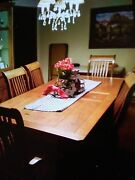 Mission Style Dining Room Table And China Hutch