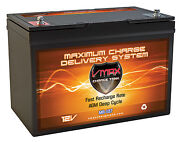 Vmax Mr127-100 12v 100ah Agm Marine Battery For Motorguide X3 45lbtrolling Motor