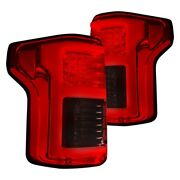 Recon Chrome/red Fiber Optic Led Tail Lights For 15-17 Ford F150 17-18 Raptor