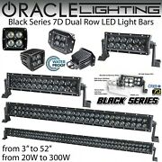 Oracle Black Series 7d Dual Row Led Light Bars And Spot Lights - 8-52 And 20w-300w