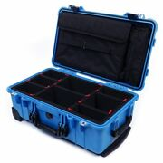 Blue And Black Pelican 1510 With Trekpak Dividers And Lid Computer Pouch