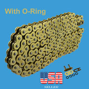 Gold 520 X 120 O-ring Drive Chain Atv Motorcycle Fit Husqvarna Tc610 And Te610