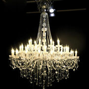 Luxury Led Crystal Chandelier Palace Pendant Lamp Lobby Ceiling Light Fixtures