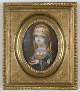 Grand Duchess Anna Fedorovna Of Russia Important Russian Miniature Ca.1800