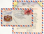 War Censor Hawaii Airmail Illustrated Env To Sunbury Pa Usa + Letter Fawver 1942